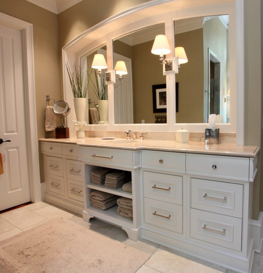 White Cabinets Bathroom Pertaining To Simple For Modern The New Way