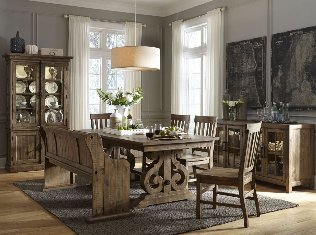 Willough Weathered Barley Extendable Dining Room Set From