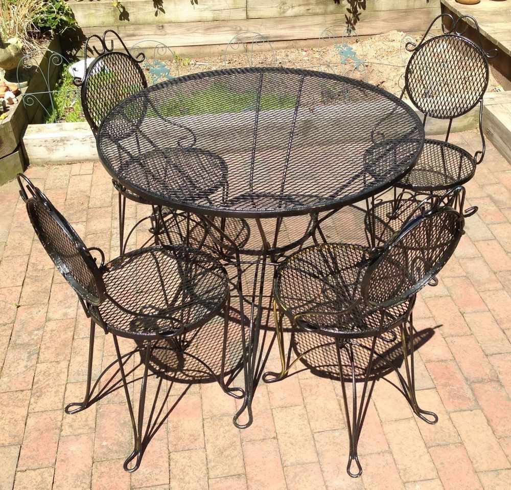 Wrought Iron Patio Furniture Craigslist Painting Wrought Iron