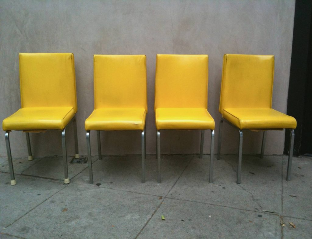 Yellow Dining Room Chairs Original And Bright Modern Yellow Leather