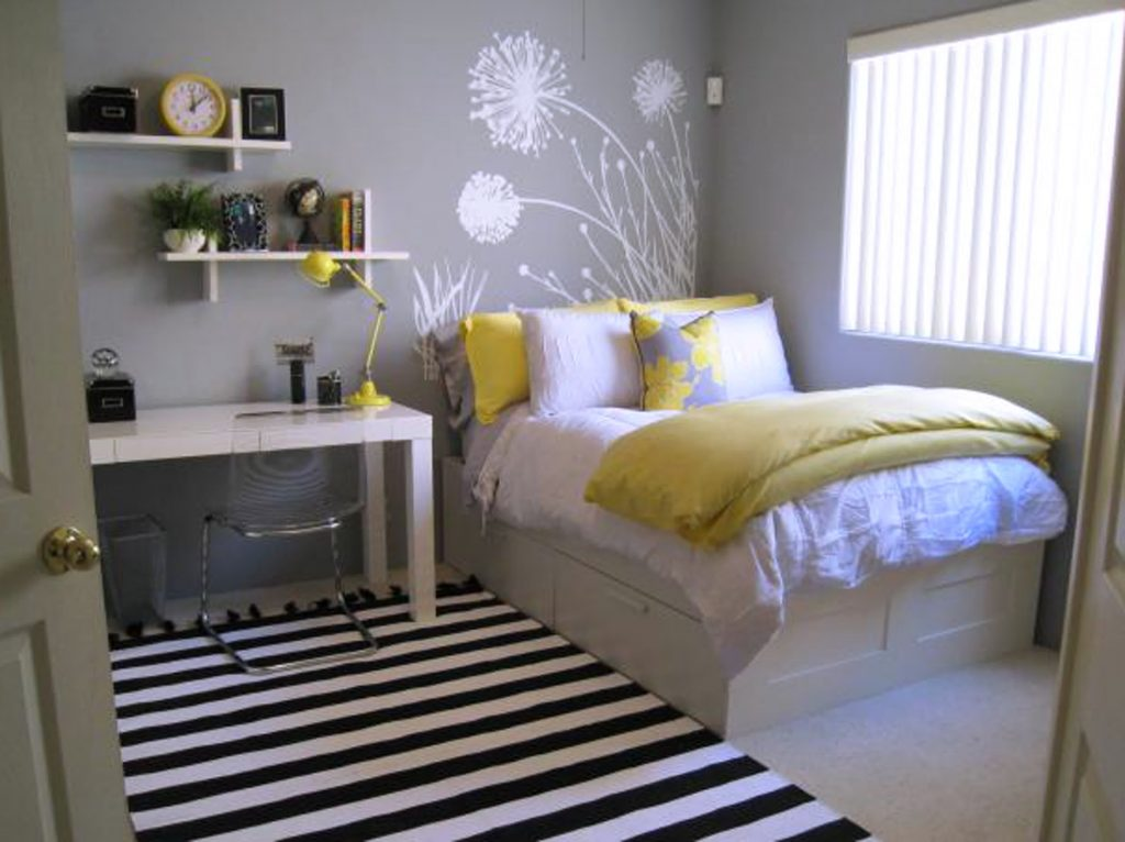 Yellow Gray Bedroom Talentneeds