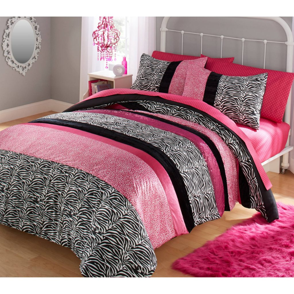Your Zone Zebra Bedding Comforter Set Walmart