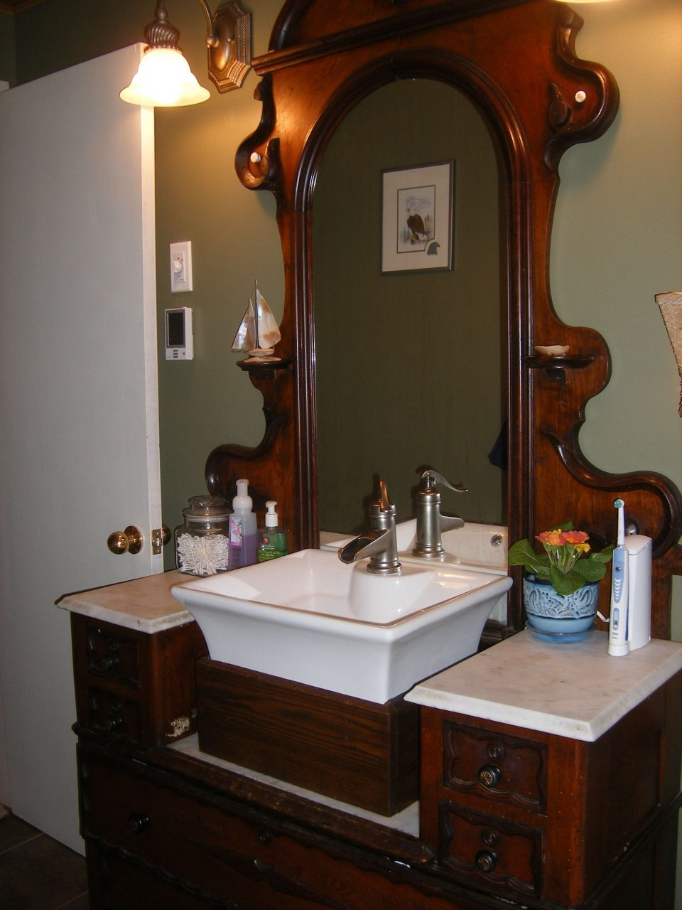 1800s Dresser Repurposed As Our 100 Original Bathroom Vanity For