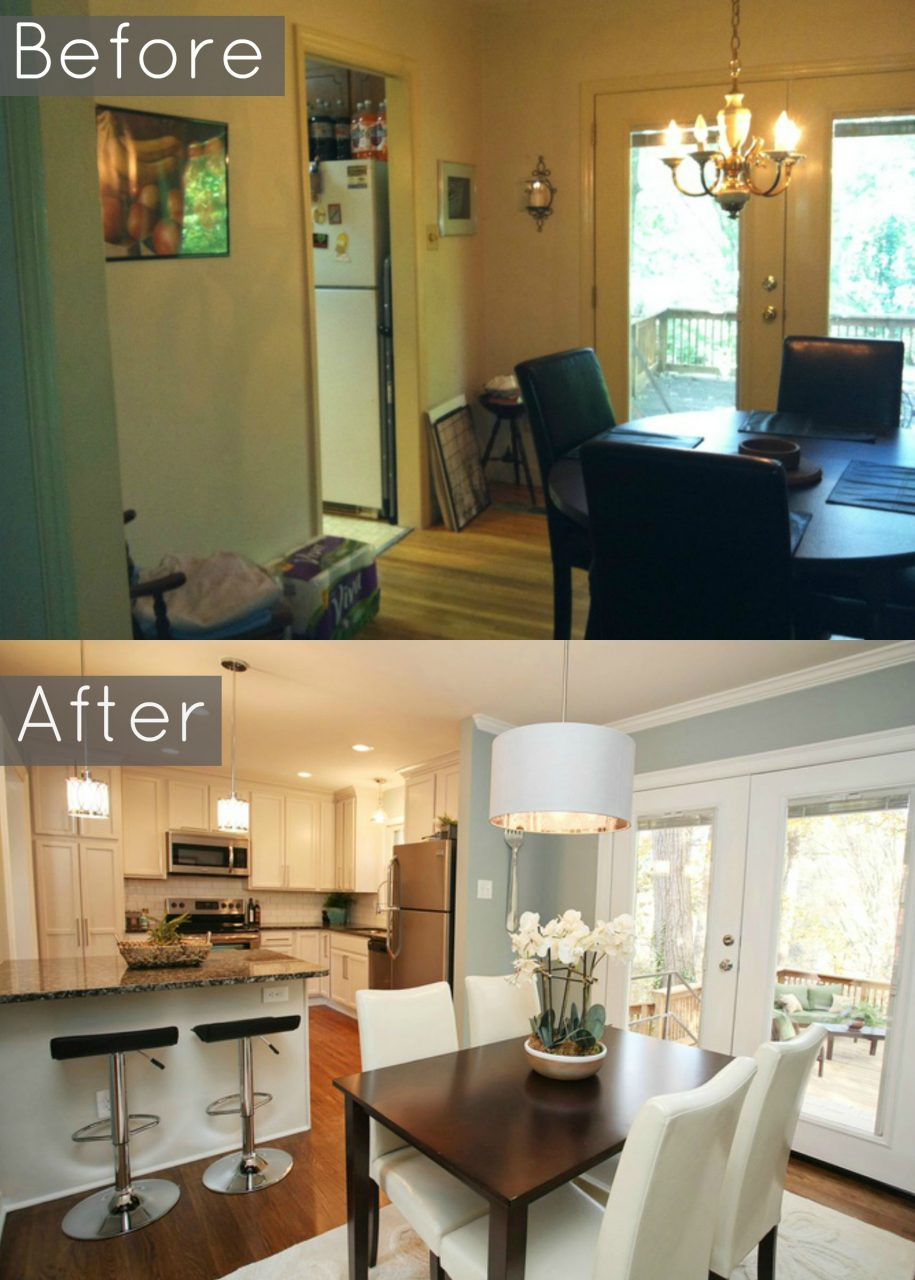 20 Small Kitchen Renovations Before And After House Ideas