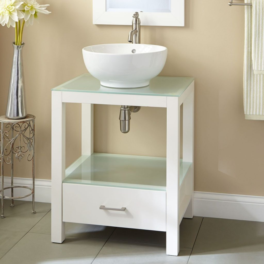 24 Mila Console Vanity With Vessel Sink Vessel Sink Vanities