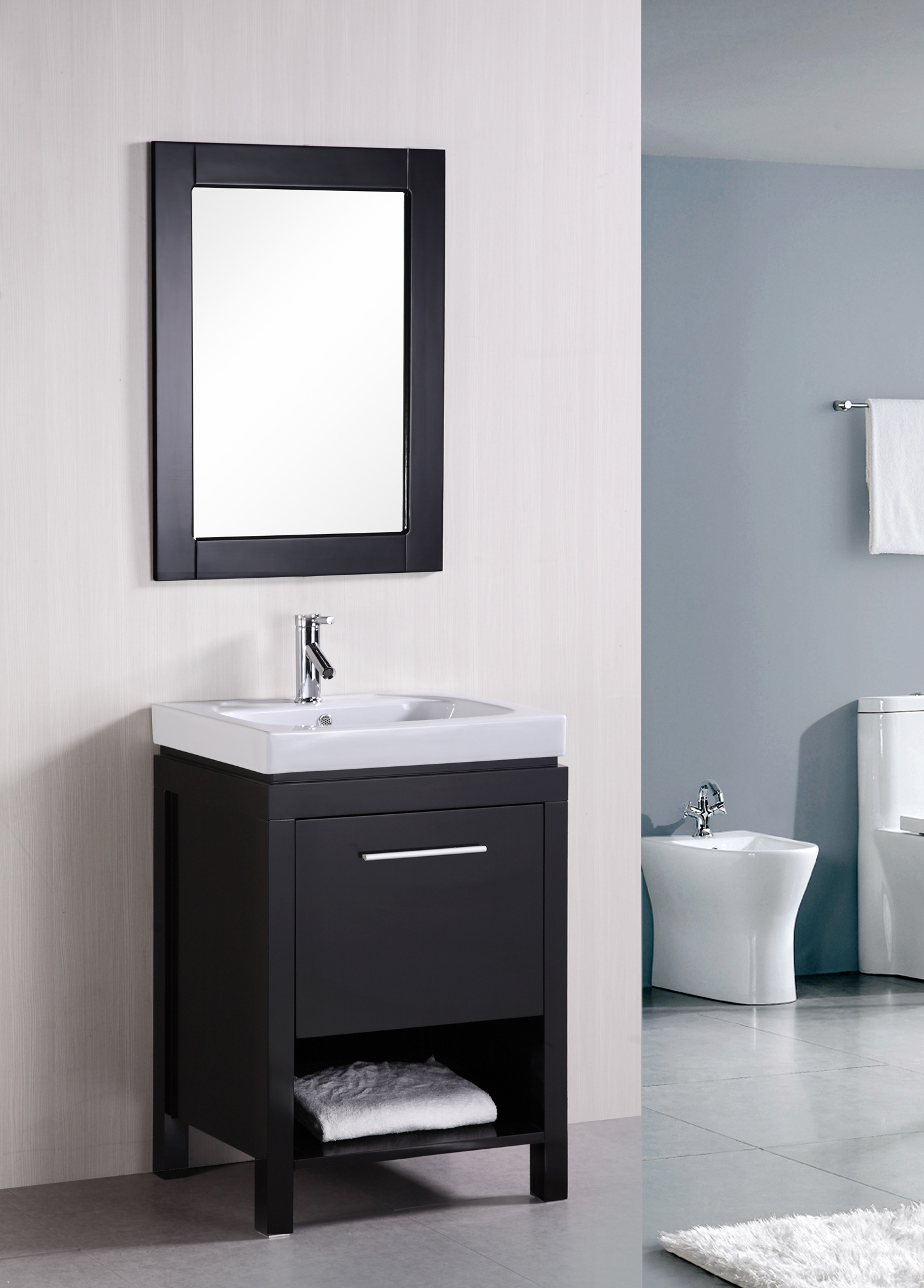 24 New York Dec091a Single Sink Vanity Set Bathroom Vanities