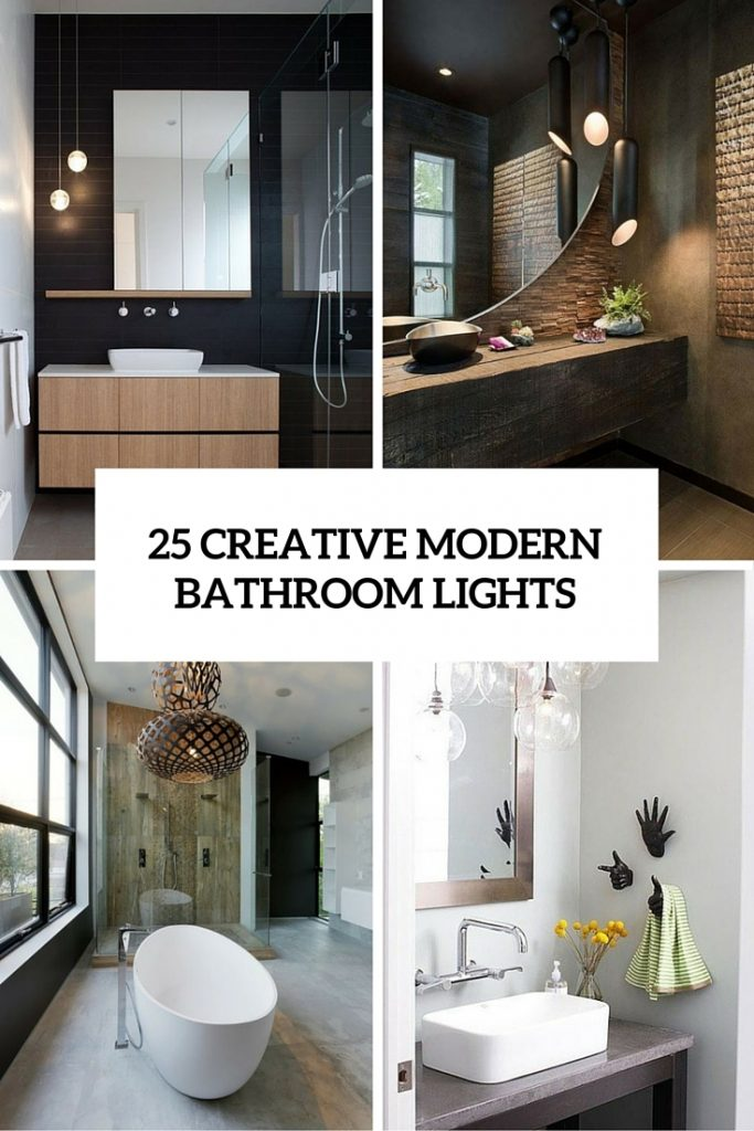25 Creative Modern Bathroom Lights Ideas Youll Love Digsdigs