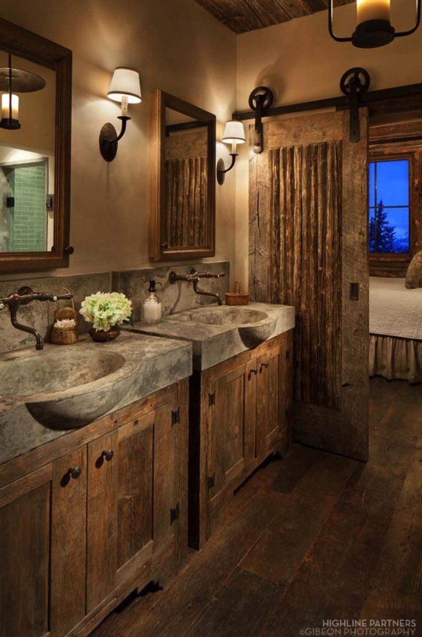 31 Gorgeous Rustic Bathroom Decor Ideas To Try At Home Interior