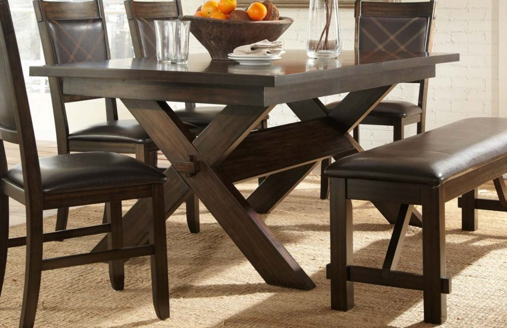 36 Round Espresso Dining Table G Plan With Leaf Bradding 84 Set For