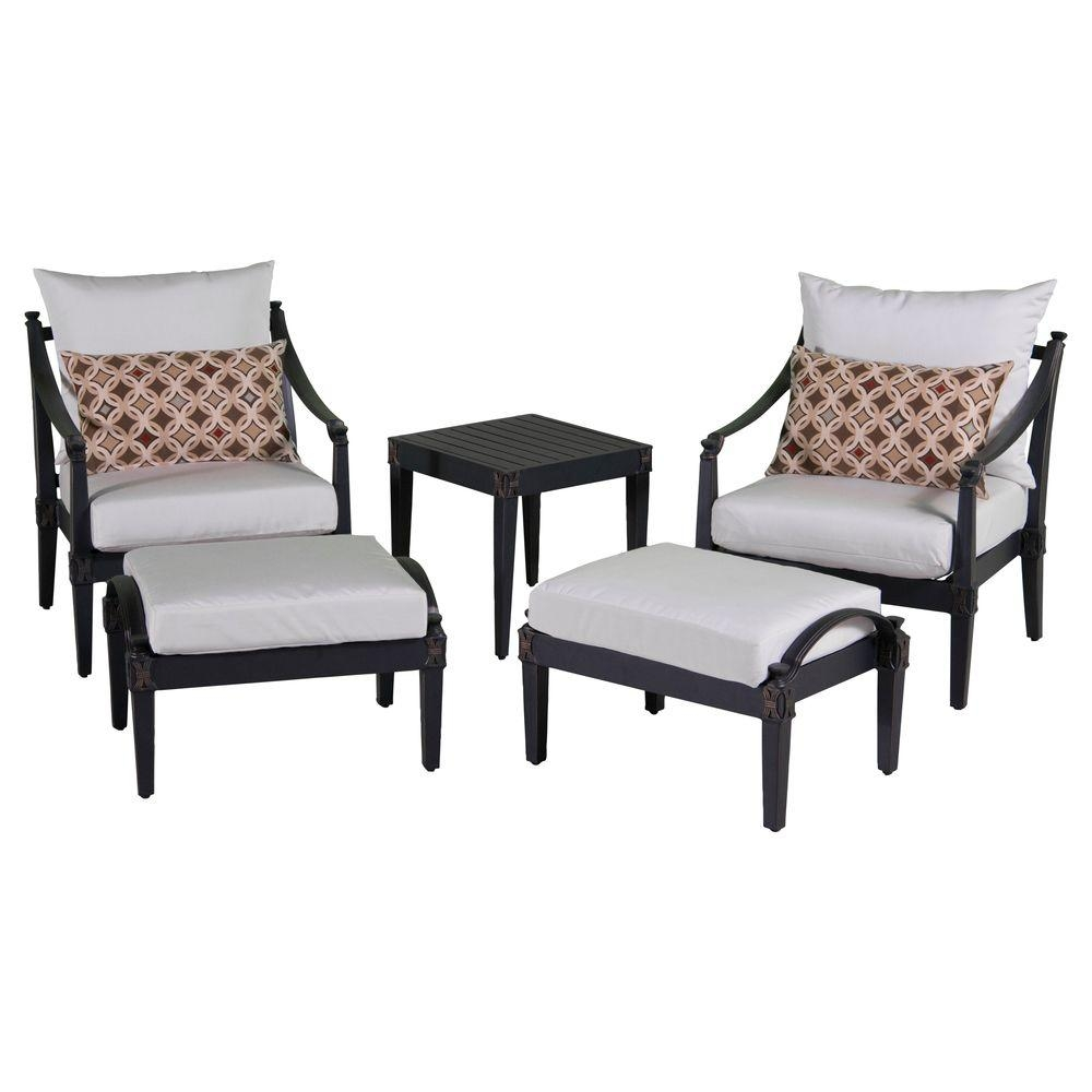 45 Patio Chairs With Ottoman Shop Patio Furniture Sets At Lowes