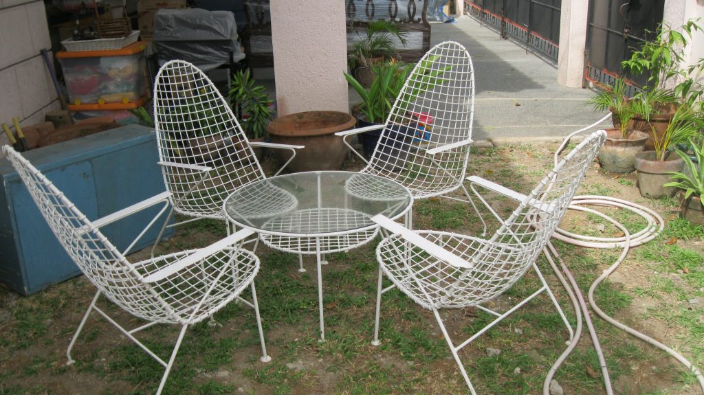 52 Patio Furniture Used Used Steel Patio Chairs In Natural Finish