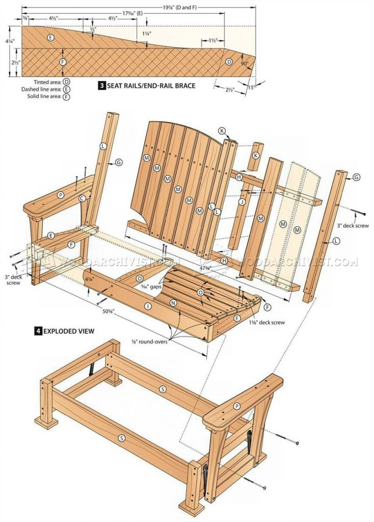 57 Glider Bench Plans Outdoor Furniture Plans Projects