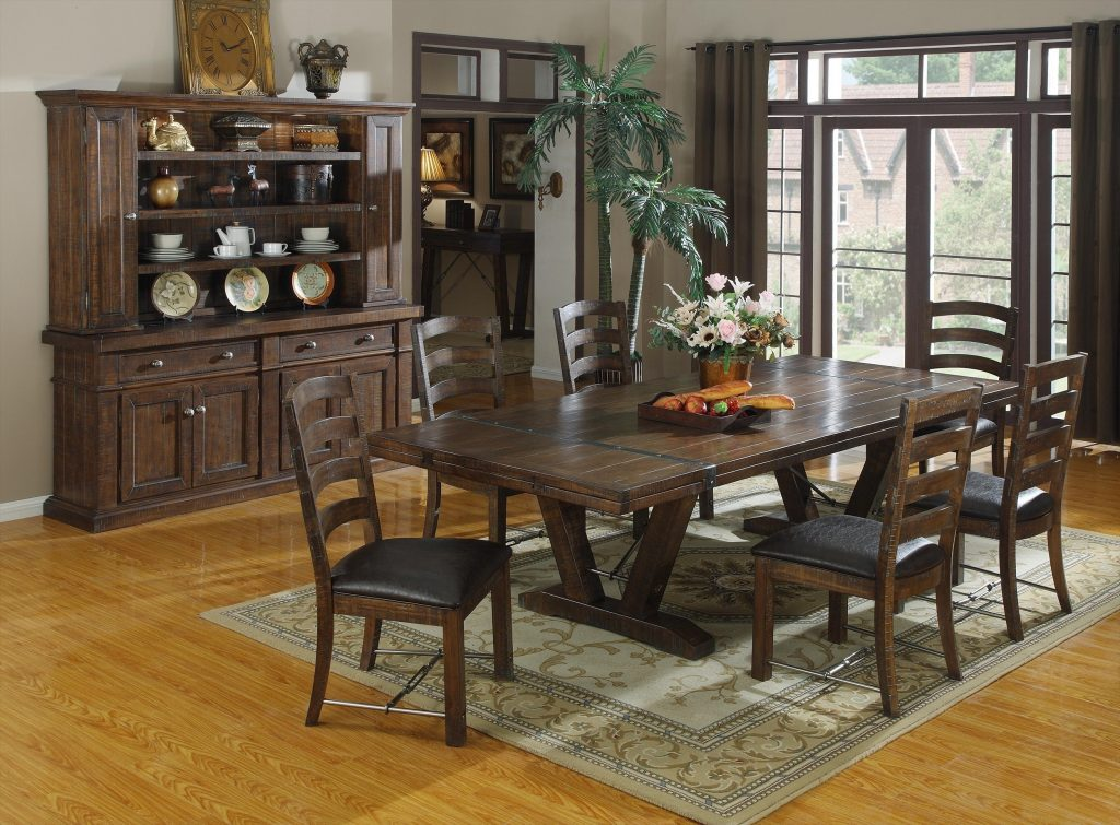 7 Piece Dining Set Dining Table Set Black Dining Table Round Black