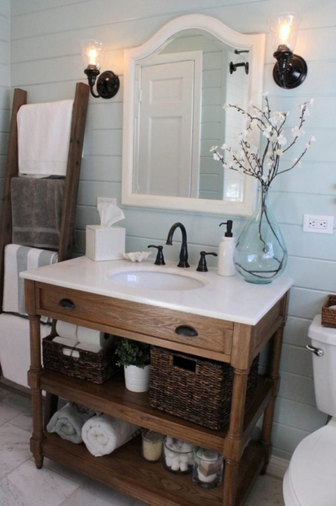 85 Examples Unique Bathroom Vanity Farmhouse Style May The Right