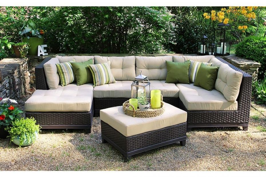 Ae Outdoor Hillborough 4 Piece All Weather Wicker Patio Sectional