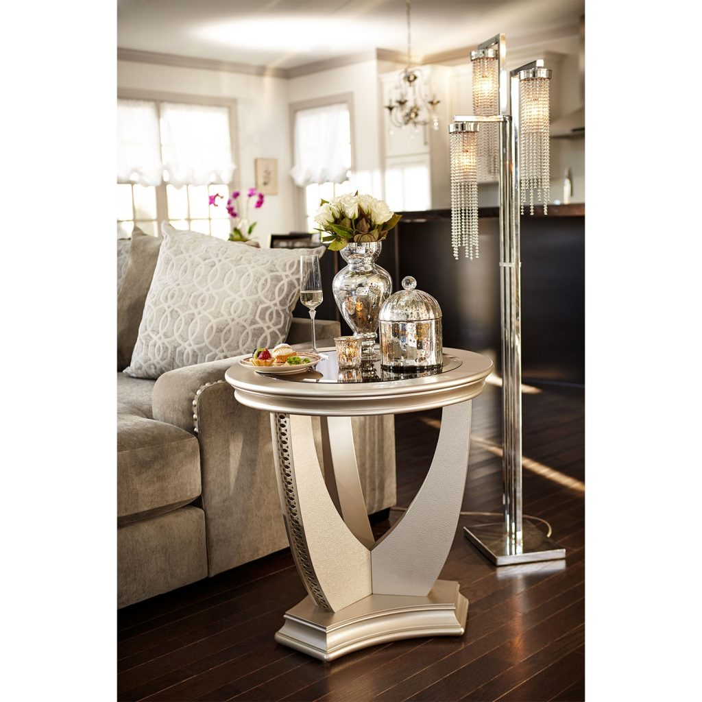 Allegro End Table Platinum Value City Furniture And Mattresses