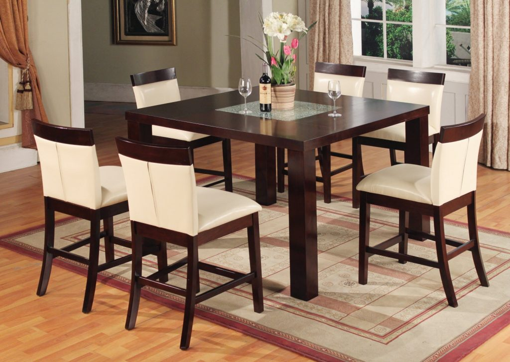 Amazing High Dining Room Sets 3 Solid Wood Table And Chairs