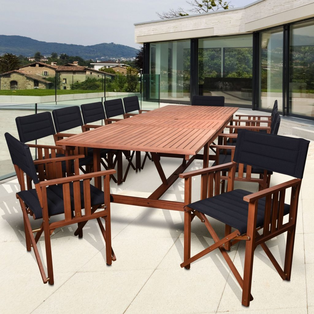 Amazonia San Antonio Extendable Patio 13 Piece Dining Set Patio