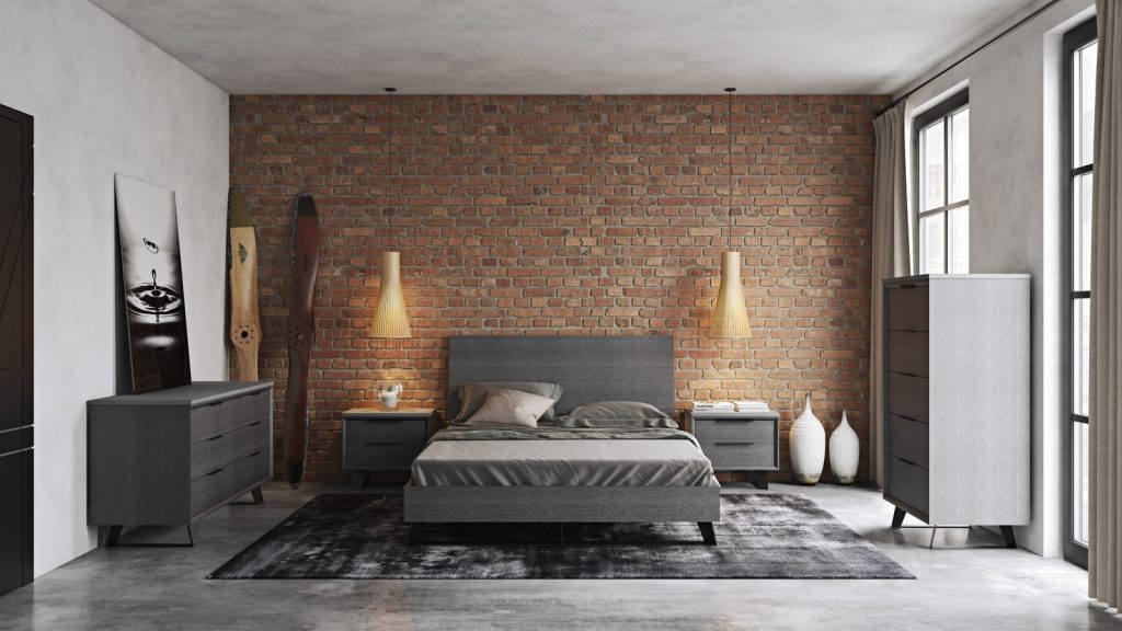 Amsterdam Grey Bedroom Collection Las Vegas Furniture Store
