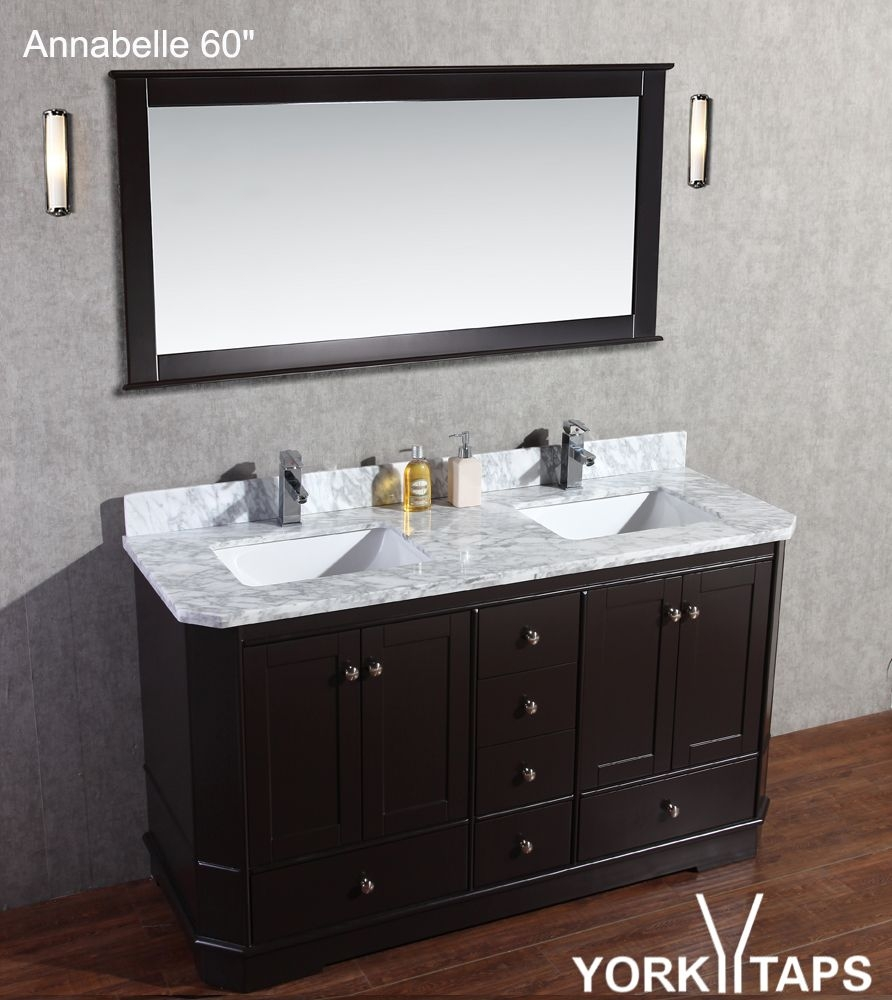 Annabelle 60 Solid Wood Bathroom Vanity Espresso Pinterest