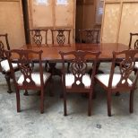 Antique Vintage Georgian Style Mahogany Large Dining Table 8