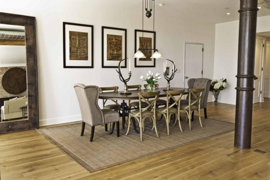 Area Rug Under Dining Table Texture
