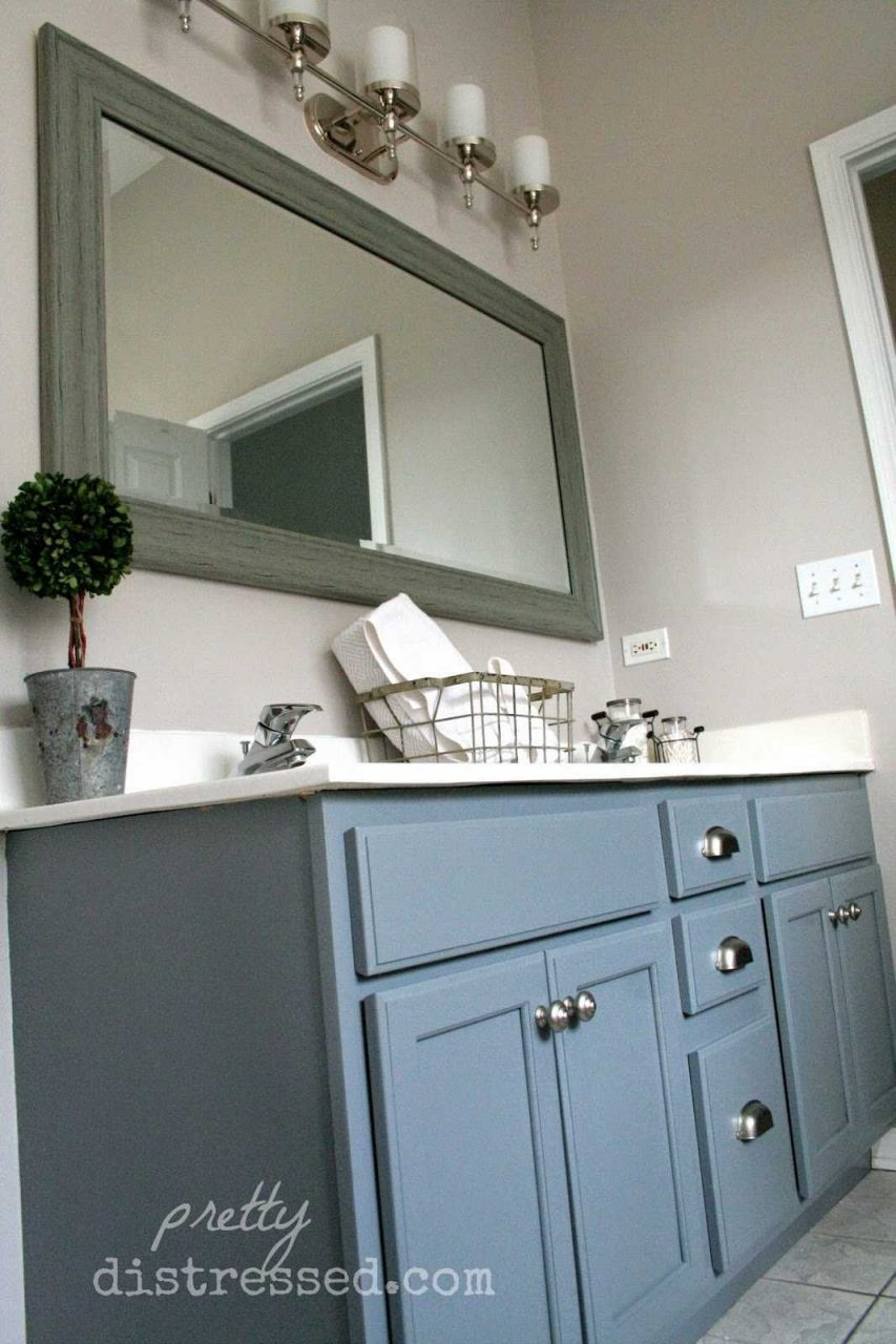 Attractive Painting Bathroom Vanity Before And After Inspirations