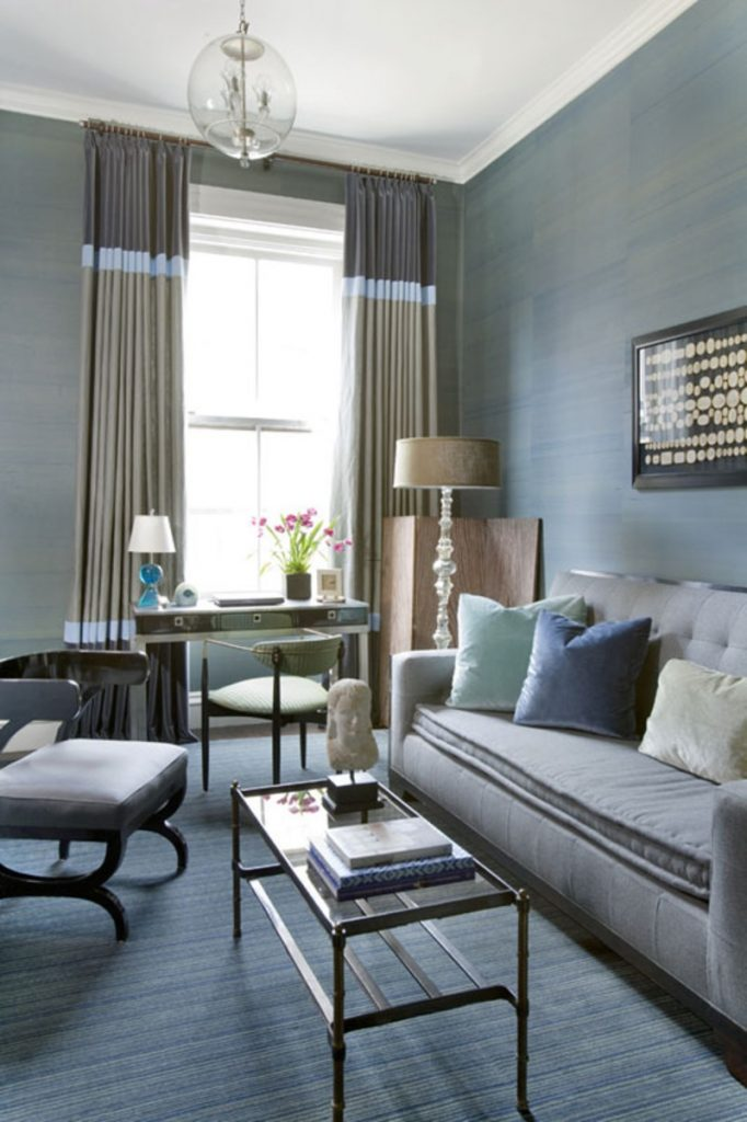 Ba Nursery Entrancing Amusing Brown And Blue Living Room Image