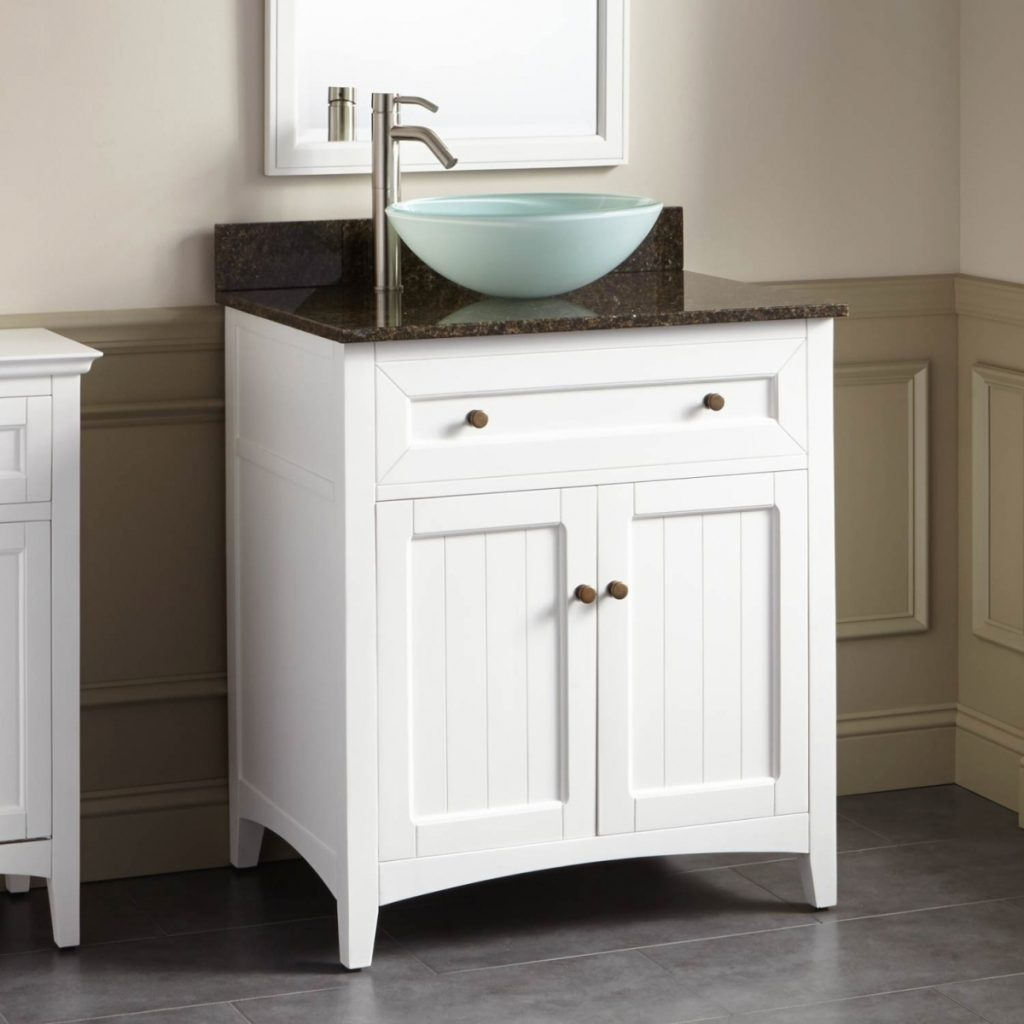 Bath Bathroom Sink White Bathroom Vanity Cabinet Vessel Sinks With