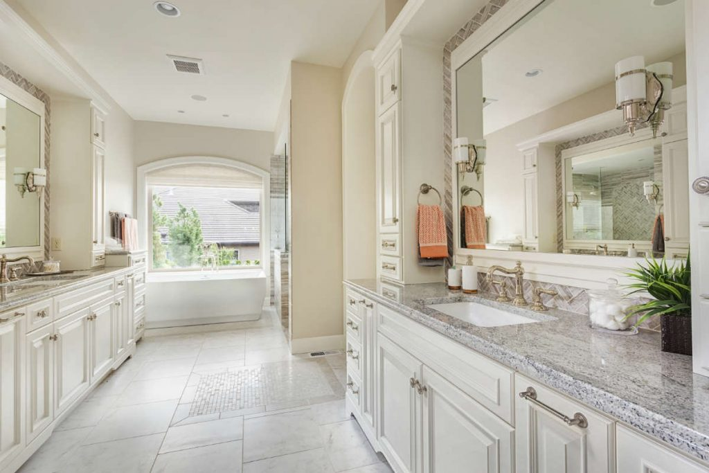 Bathroom Ideas Master Remodel Bathroom With Large Window And Double