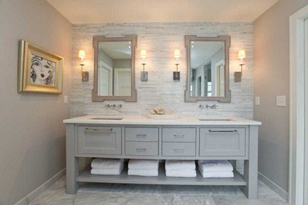 Bathroom Vanities With Towel Storage Images Including Fascinating