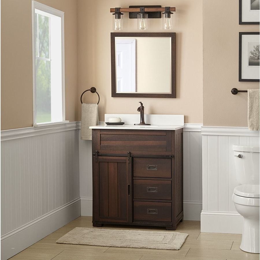 Bathroom Vanity Farmhouse Style Awesome Lowes 199 Style Selections
