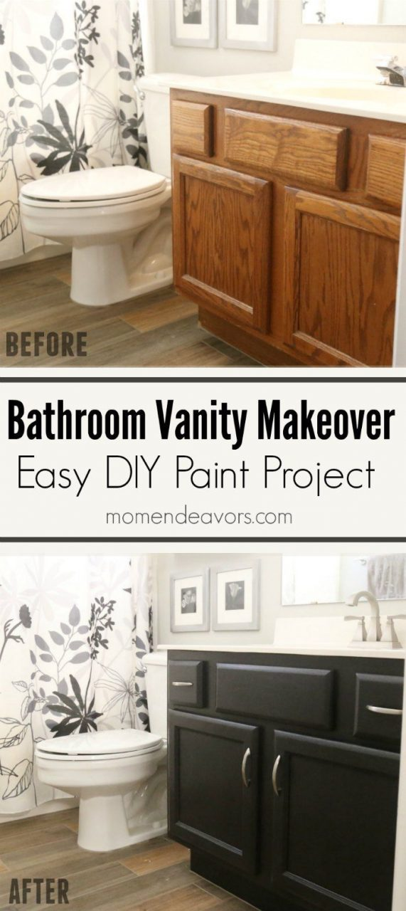 Bathroom Vanity Makeover Easy Diy Home Paint Project Paint