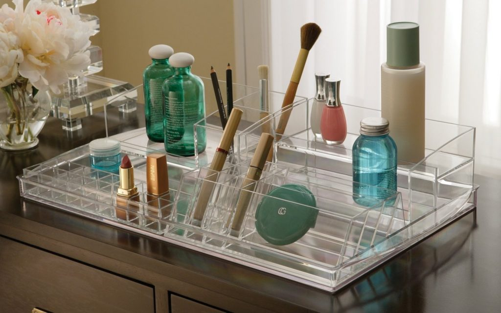 Bathroom Vanity Organizer Makeup Top Bathroom Very Simple