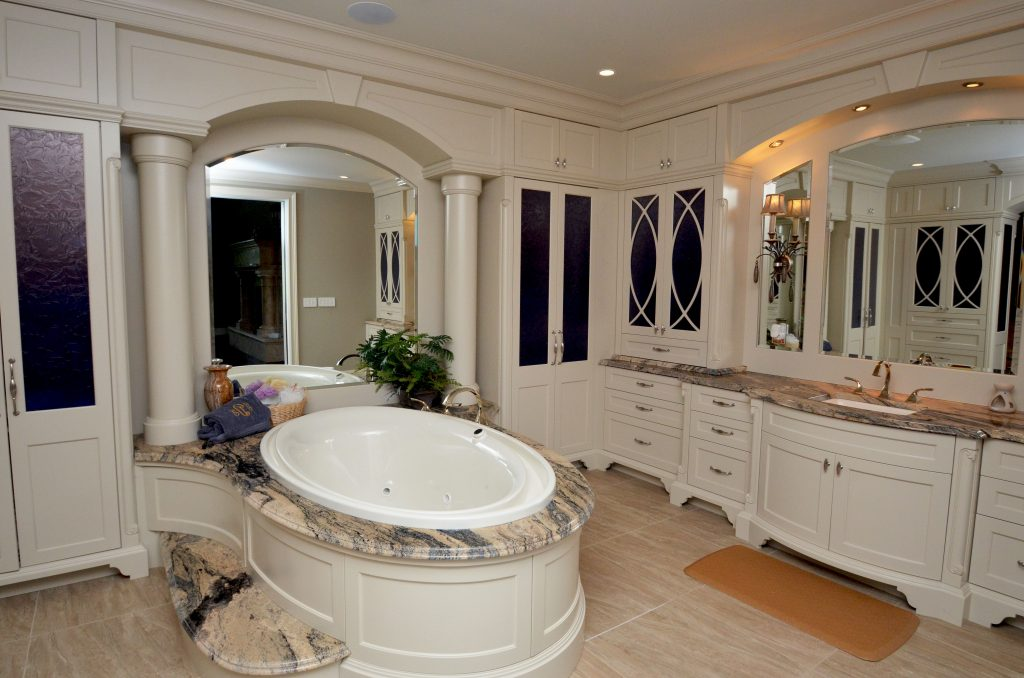Bathroom Vanity Tub Deck Granite Countertop Italian Marble