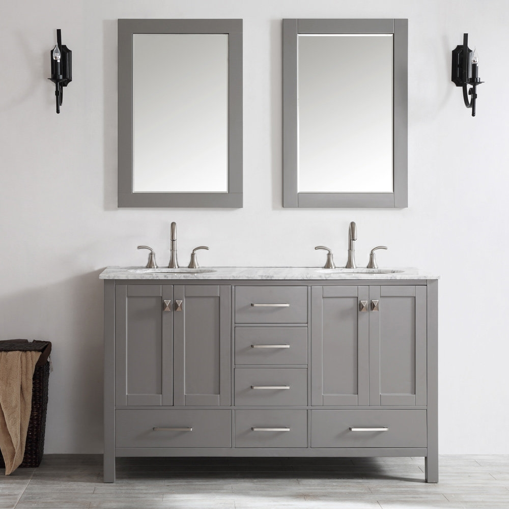 Beachcrest Home Newtown 60 Double Vanity Set With Mirror Reviews