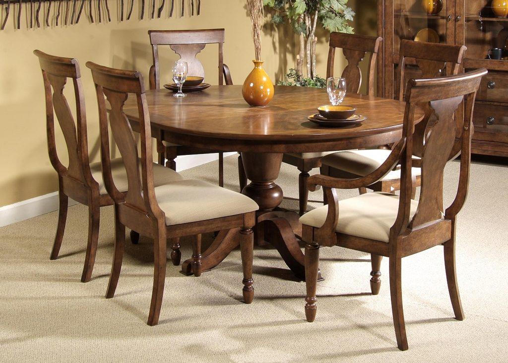 Beautiful Decoration Round Dining Table With Chairs Cozy Design For