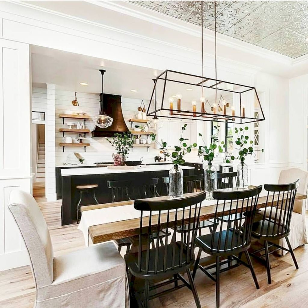Beautiful Modern Farmhouse Dining Rooms Modern Room Reveal Before
