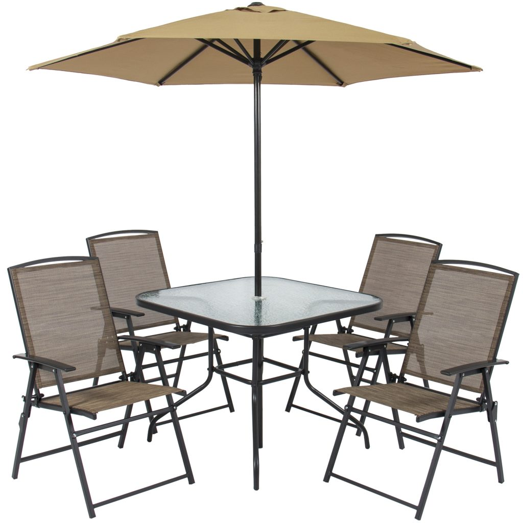Best Choice Products 6 Piece Outdoor Folding Patio Dining Set W