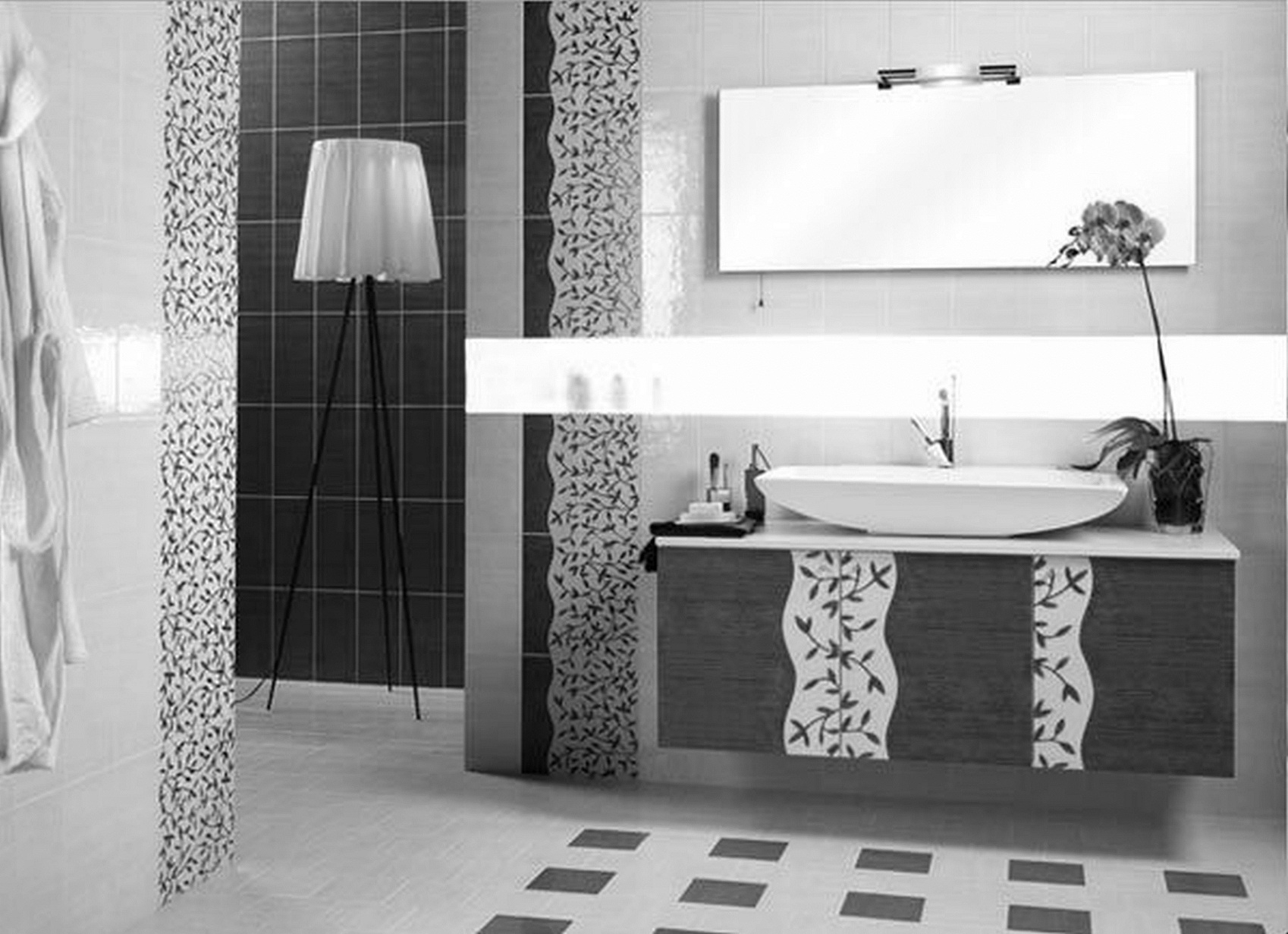 Black And White Tile Bathroom Decorating Ideas – layjao