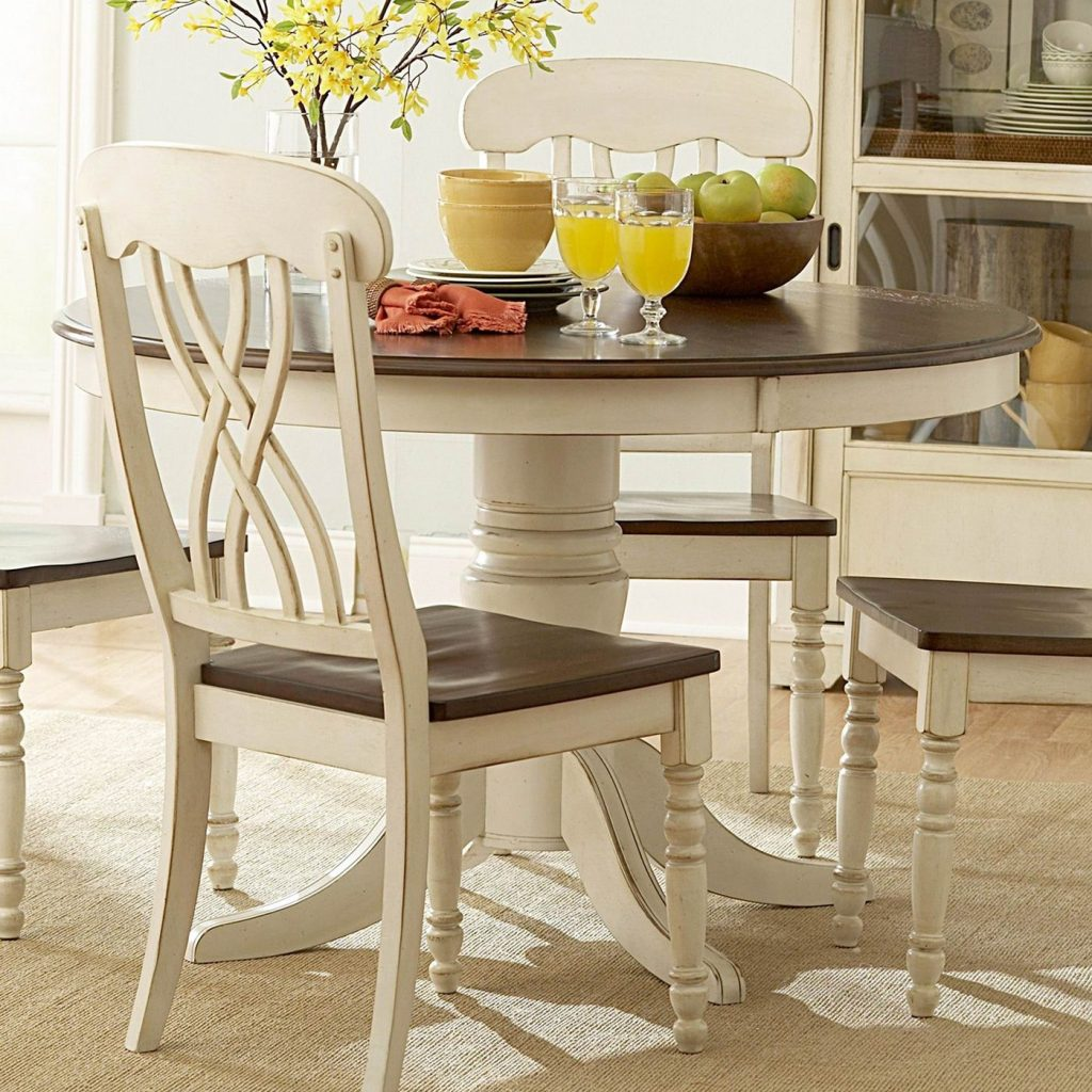 Breakfast Table Inspiration Piece The Cream Color And Antiquing