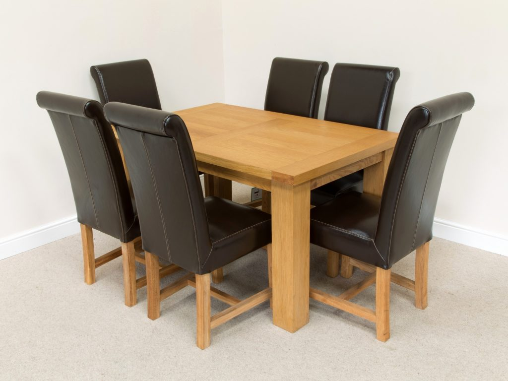 Brown Leather Dining Room Chairs Idanonline