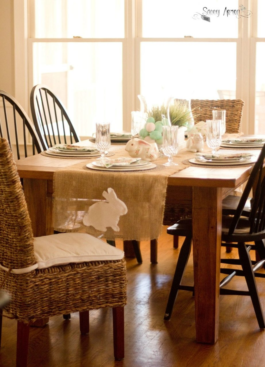 Burlap Dining Room Table Runner Httpsamhosted Pinterest