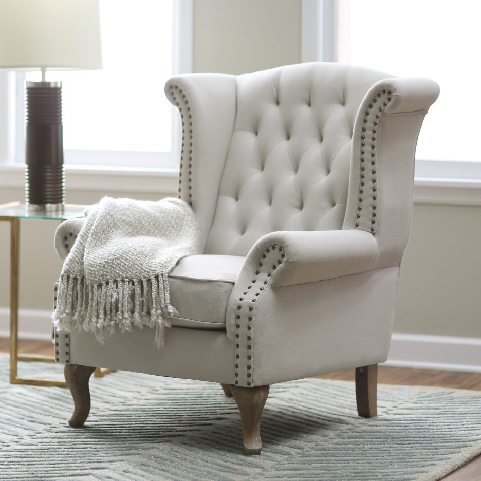 Chair Small Wingback Chair High Back Club Chair Tufted Club Chair