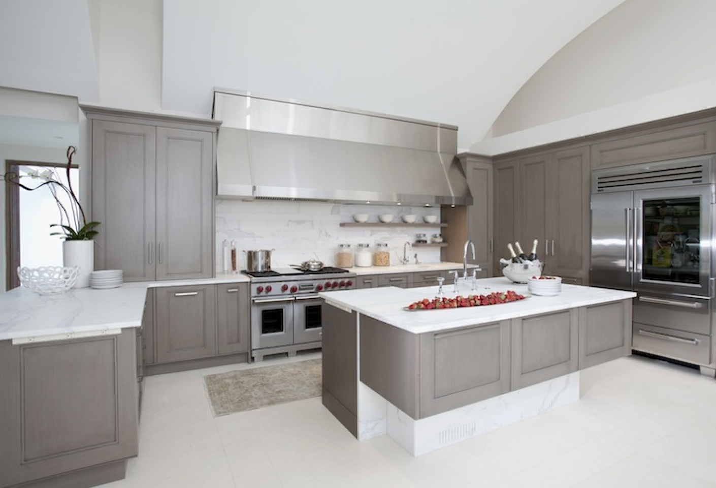 Charming Design Grey Kitchen Ideas With Rectangle Shape ... - photo#16