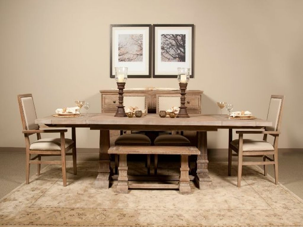 Classic Dining Room Remodeling Ideas With Elegant Bench And Cream