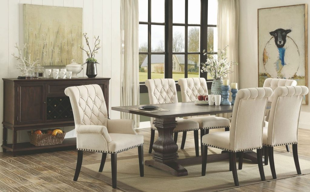 Coaster Parkins Rustic Espresso Rectangular Dining Room Set