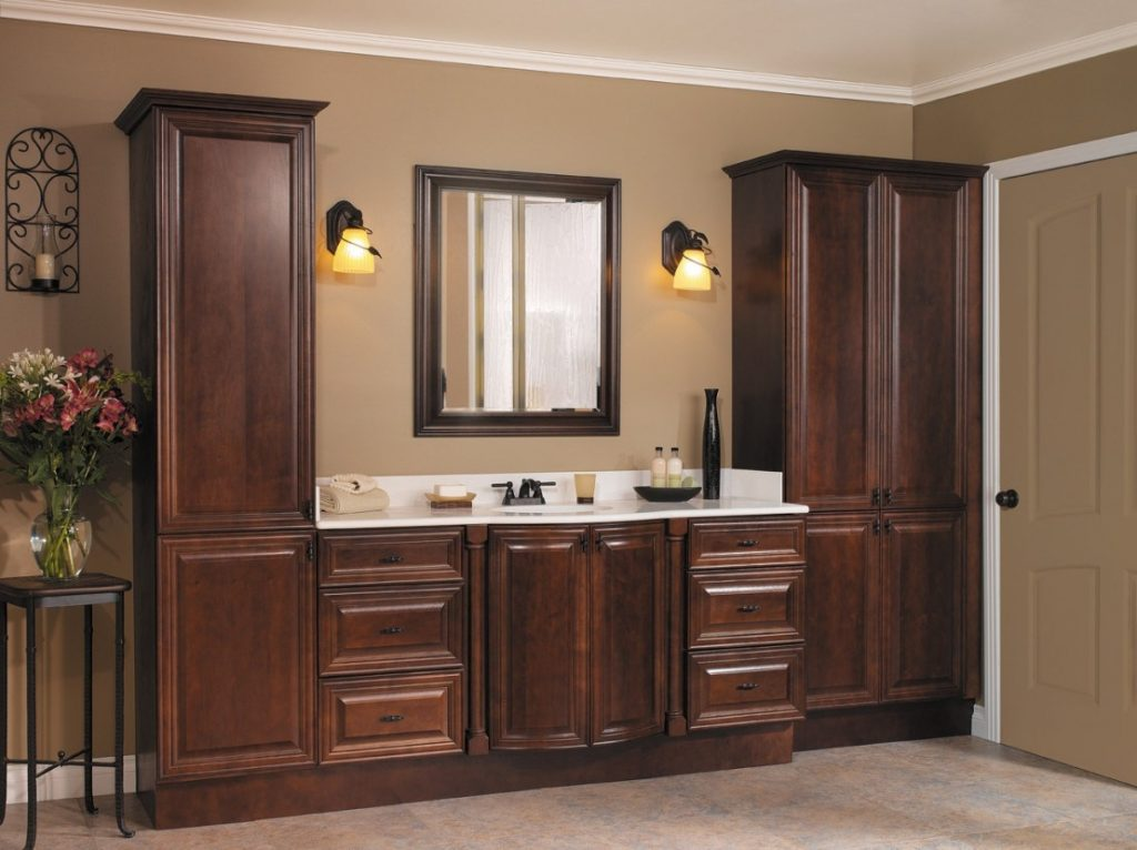Contemporary Home Depot Vanities Linen Closets Cabinets Bathroom