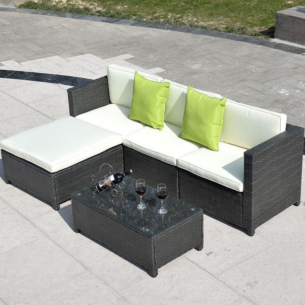 Convenience Boutiqueoutdoor Furniture Set Pe Wicker Rattan