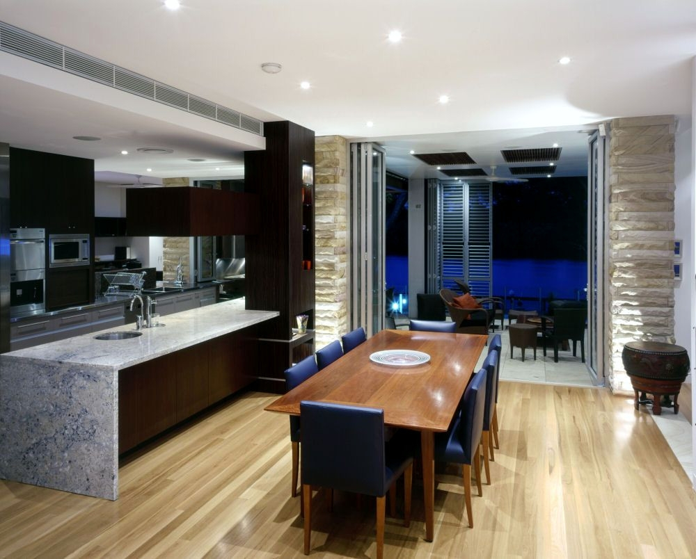 Cool Modern Kitchen And Dining Space Bination Get The Best Of Both